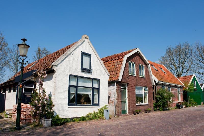 Vecchie case olandesi fotografie stock libere da diritti
