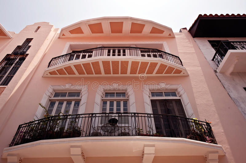 Vecchie case a Panama City immagine stock