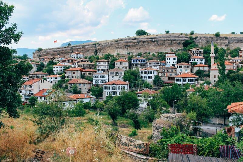Vecchie case tradizionali in Safranbolu, Turchia fotografia stock libera da diritti
