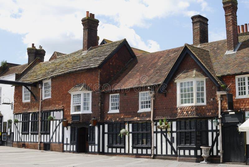 Vecchie costruzioni in Crawley. L'Inghilterra fotografia stock