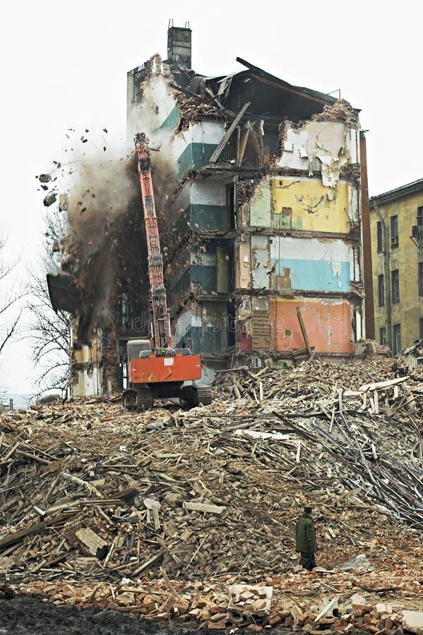 Vecchie costruzioni di appartamento fotografia stock libera da diritti