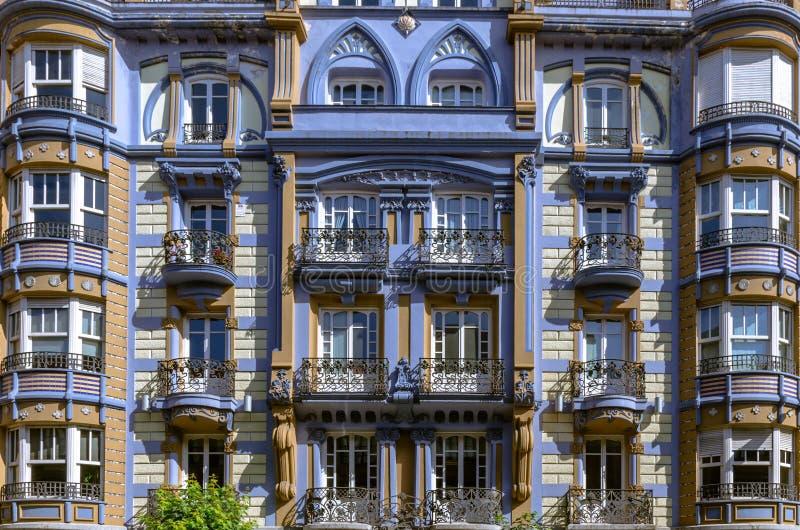 Vecchie costruzioni di Bilbao fotografie stock libere da diritti