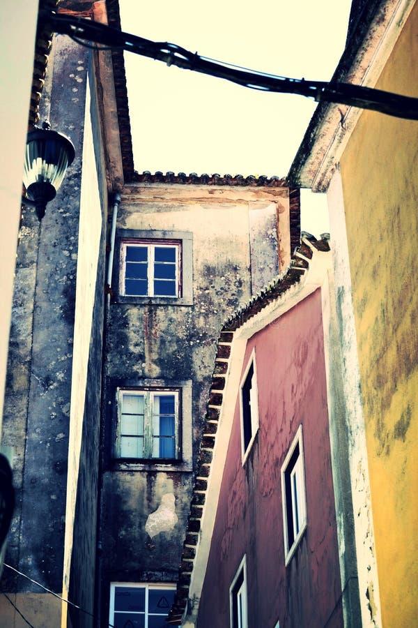 Vecchie costruzioni miste fotografia stock libera da diritti