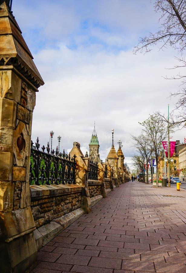 Vecchie costruzioni in Ottawa, Canada immagine stock