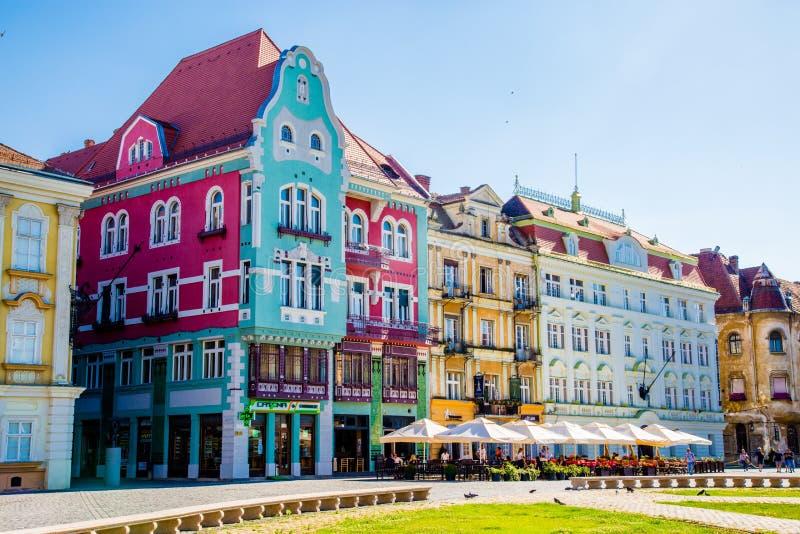 Vecchie costruzioni situate in una città in Romania, Timisoara fotografie stock libere da diritti