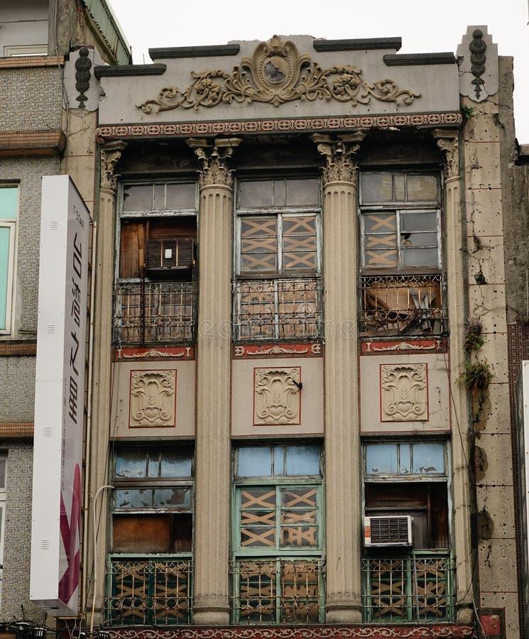 Vecchie costruzioni in Taipei, Taiwan fotografie stock