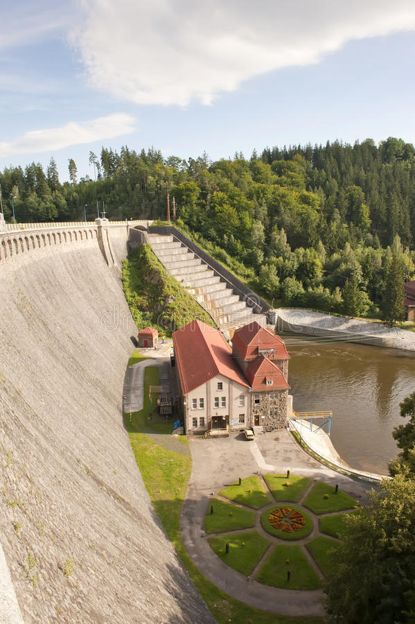 Vecchie diga e centrale elettrica fotografia stock libera da diritti