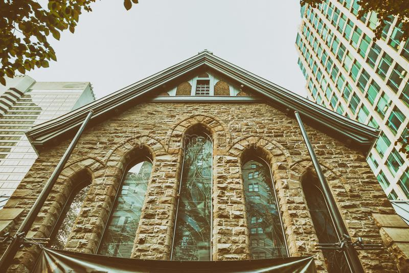 Vecchie e costruzioni moderne di Vancouver fotografie stock