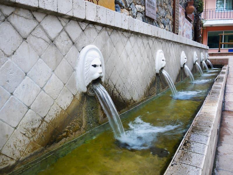 Vecchie fontane immagine stock