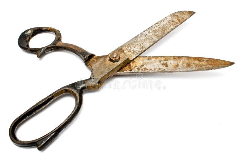 Vecchie forbici di cucito arrugginite fotografia stock