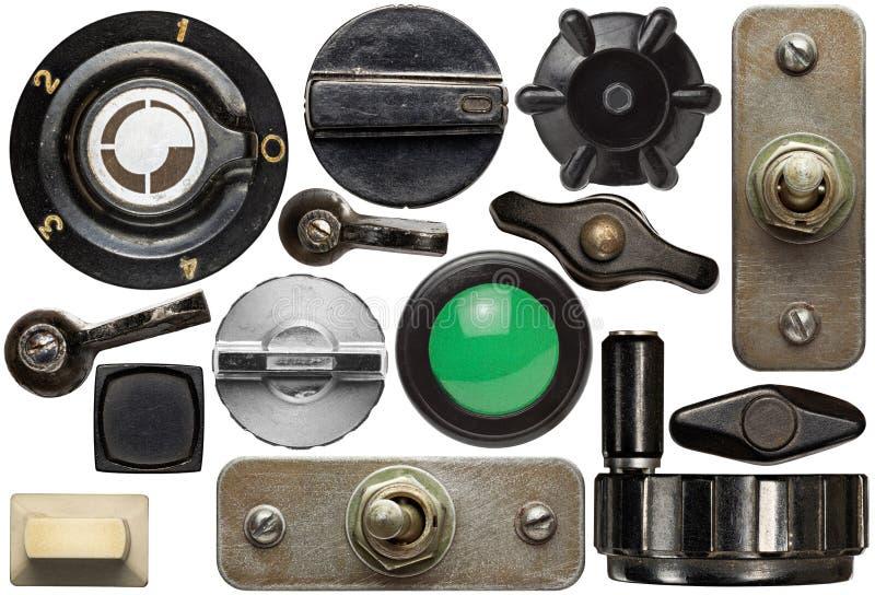 Vecchie manopole fotografia stock