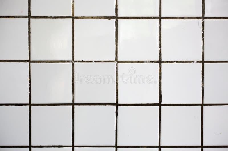 Vecchie mattonelle bianche immagini stock