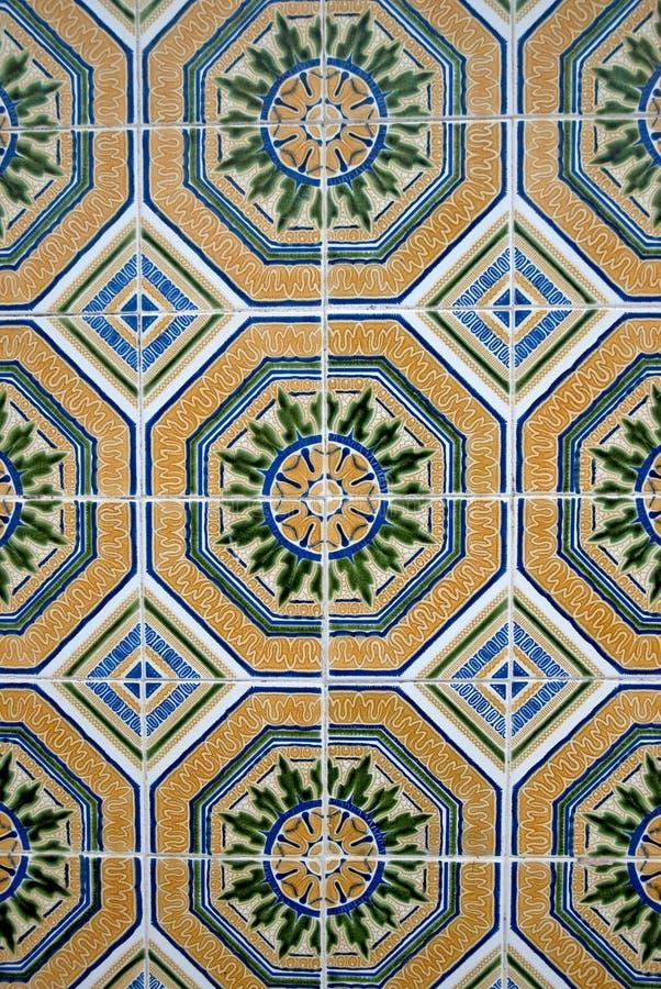 Vecchie mattonelle tipiche ornamentali immagine stock