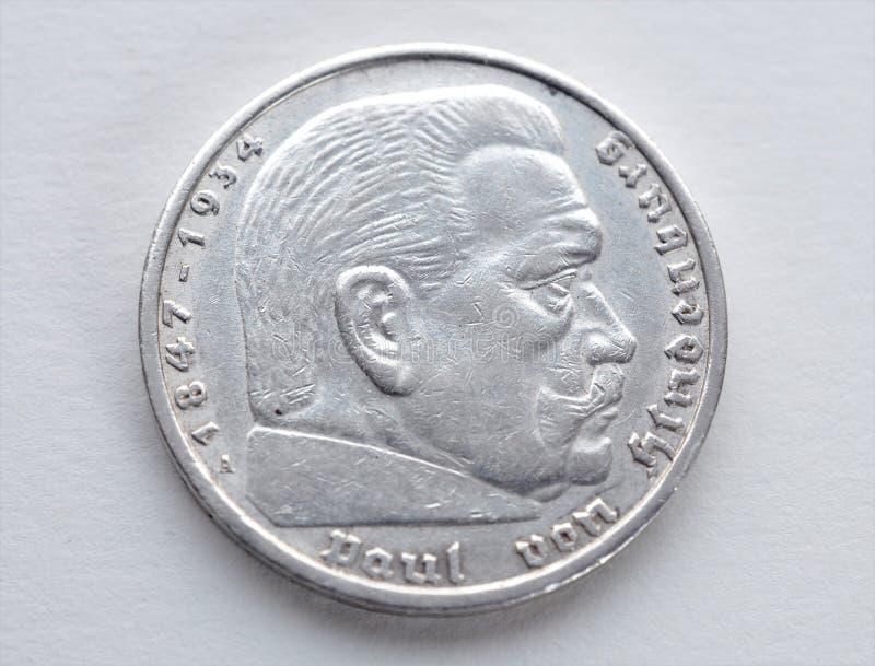 Vecchie monete d'argento - Germania fotografia stock libera da diritti