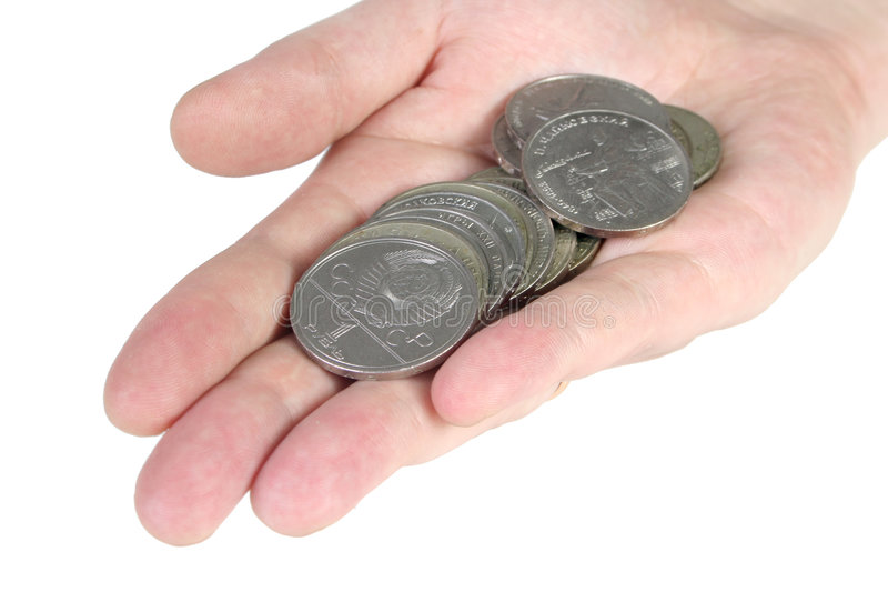 Vecchie monete sovietiche immagine stock libera da diritti