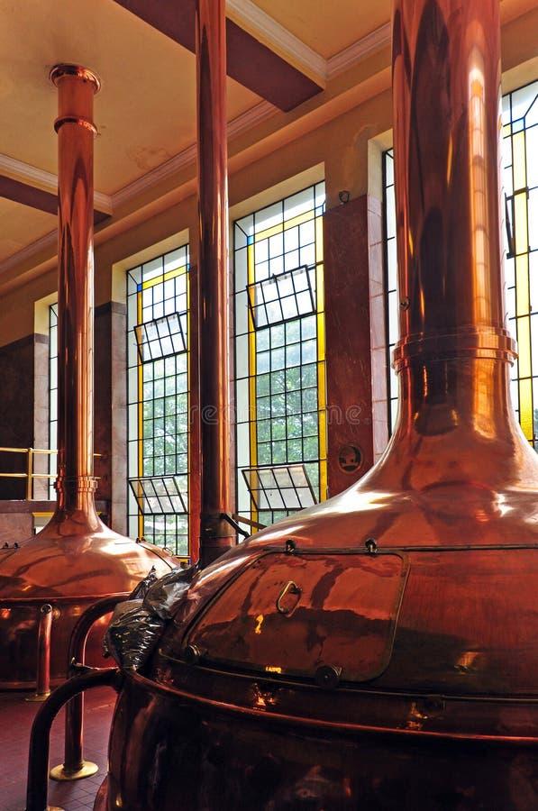 Vecchie navi del Wo per fare nella fabbrica di birra storica fotografie stock libere da diritti