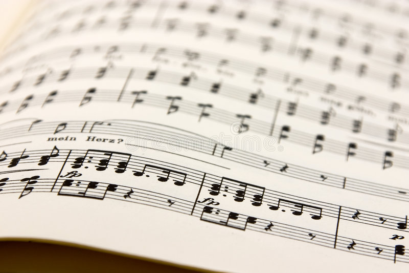 Vecchie note di musica - retro immagine stock
