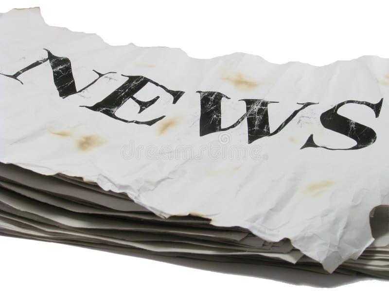 Vecchie notizie fotografia stock libera da diritti