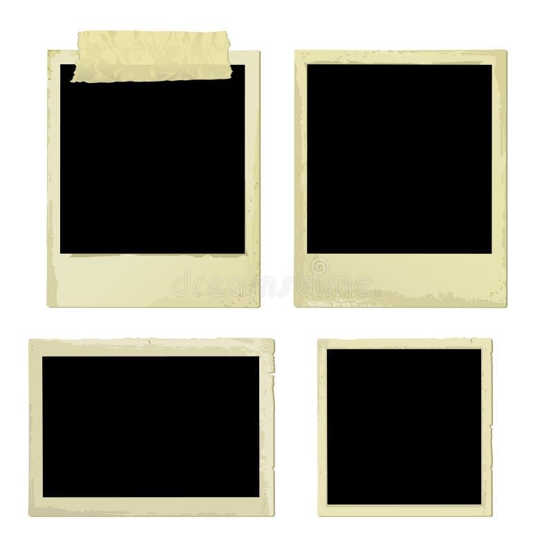 Vecchie pagine della foto (vettore) illustrazione di stock