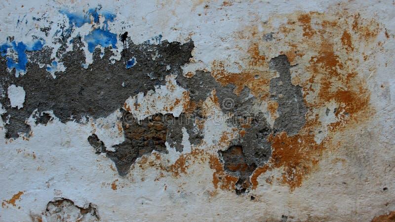 Vecchie pareti colorate del cemento fotografia stock libera da diritti