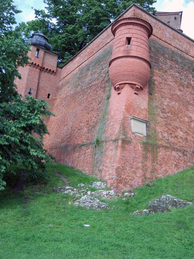 Vecchie pareti del castello, Wawel fotografie stock libere da diritti