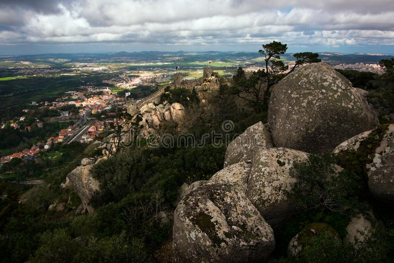 Vecchie pietre di Sintras fotografie stock