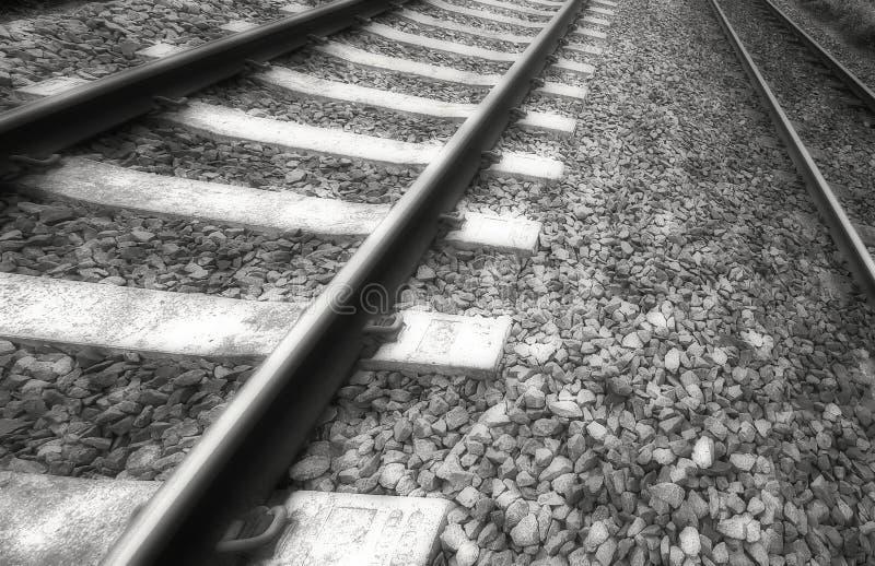 Vecchie piste del treno fotografia stock libera da diritti