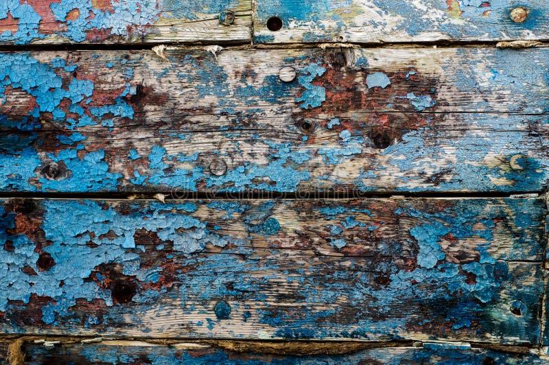 Vecchie plance con pittura differente, uso come sfondo naturale fotografia stock