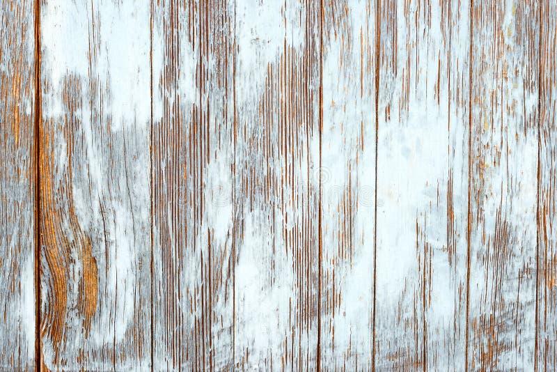 Vecchie plance di legno misere con la pittura incrinata di colore fotografia stock libera da diritti