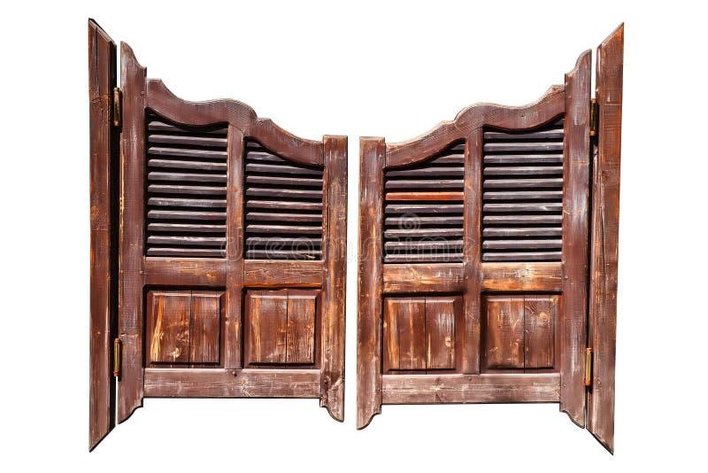 Vecchie porte del salone fotografia stock