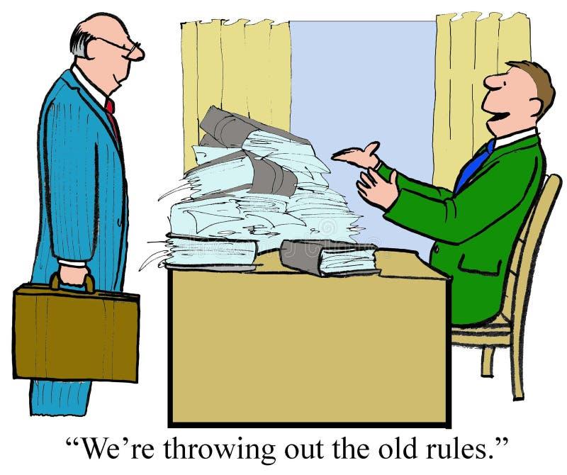 Vecchie regole illustrazione di stock