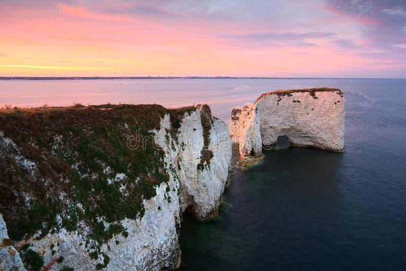 Vecchie rocce del Harry in Dorset immagini stock libere da diritti