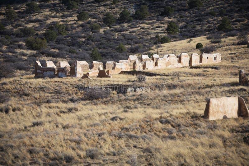 Vecchie rovine in Arizona immagini stock