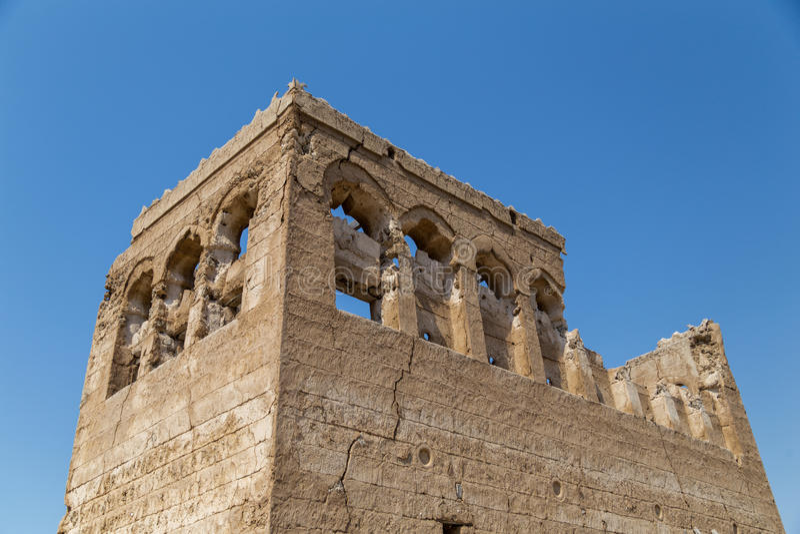 Vecchie rovine della costruzione in Umm Al Quwain fotografia stock libera da diritti