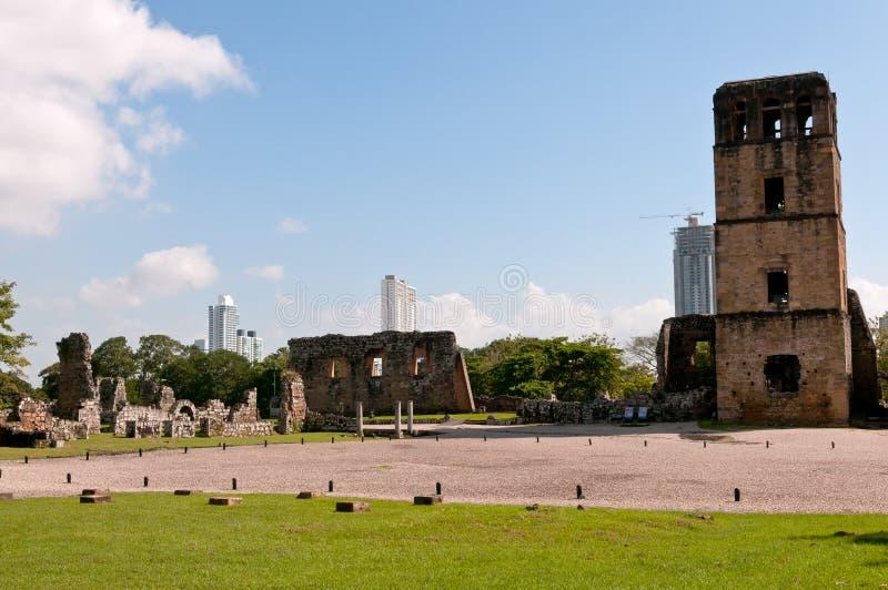 Vecchie rovine di Panama City fotografie stock libere da diritti