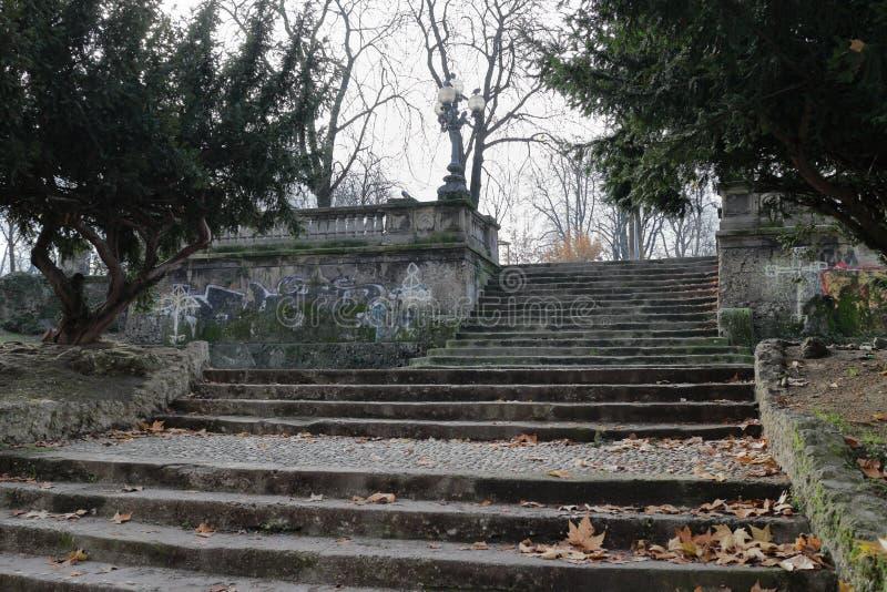Vecchie scale di pietra immagine stock