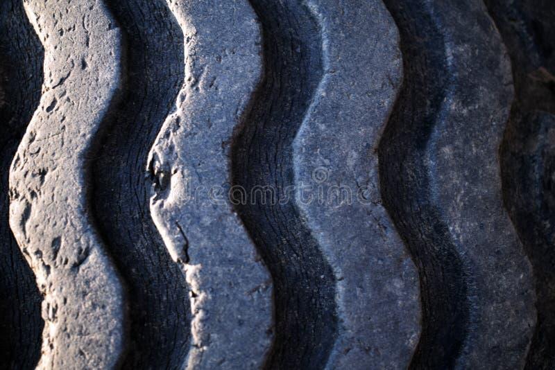 Vecchie scanalature consumate della gomma fotografia stock libera da diritti