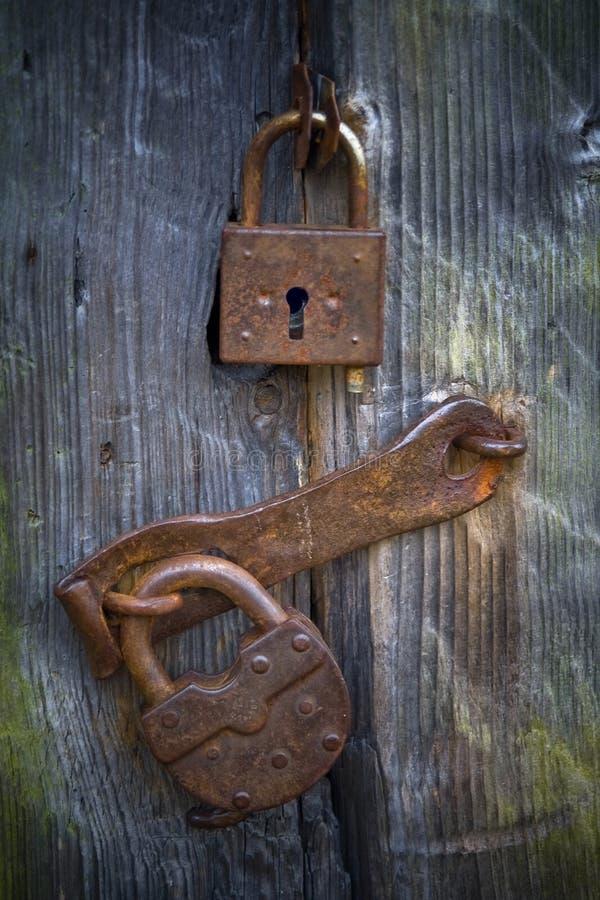Vecchie serrature fotografia stock libera da diritti