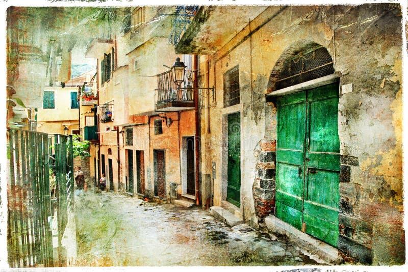 Vecchie vie dell'Italia immagini stock libere da diritti