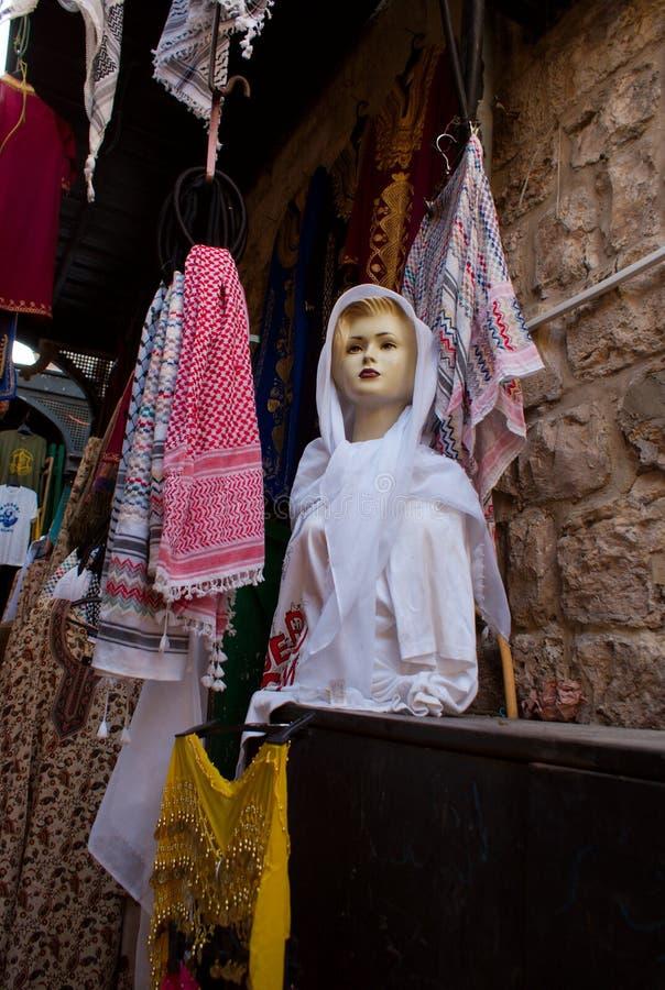 Vecchie vie della città di Gerusalemme fotografia stock libera da diritti