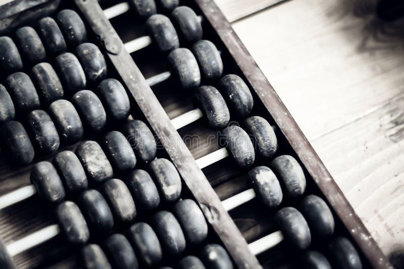 Vecchio abbaco Calcolatore tradizionale cinese Progettazione di massima finanziaria dell'immagine fotografia stock