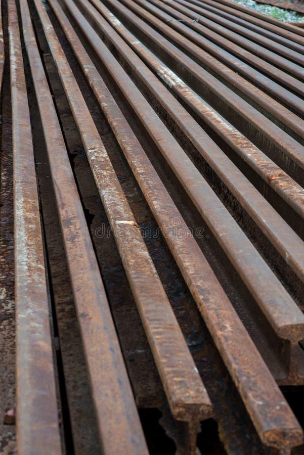 Vecchio acciaio della ferrovia fotografia stock libera da diritti