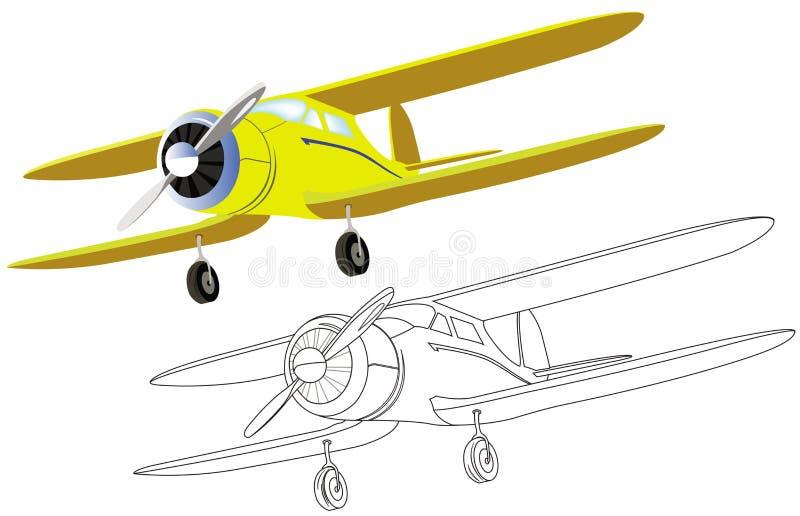 Vecchio aereo con l'elica royalty illustrazione gratis