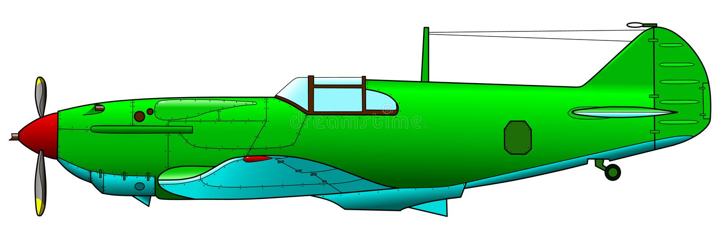 Vecchio aereo militare illustrazione di stock