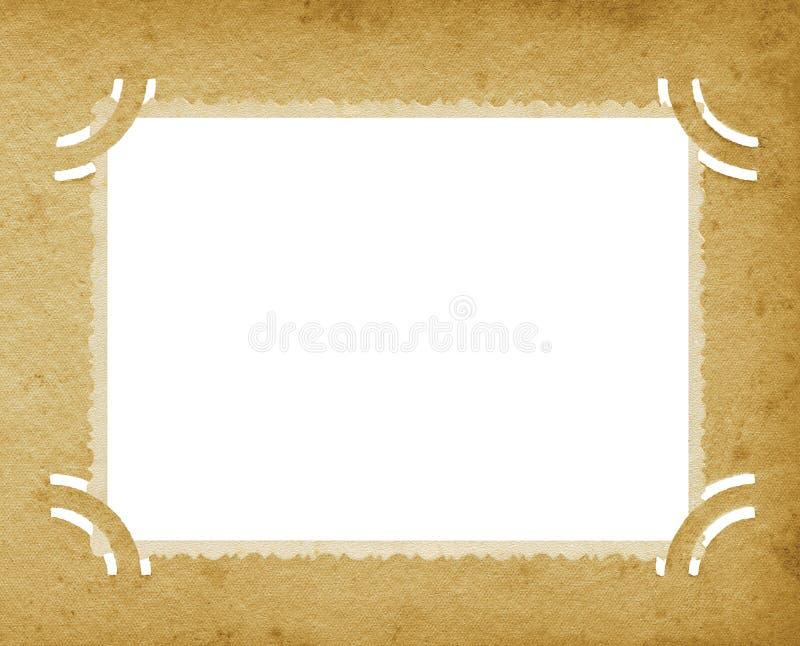 Vecchio album d'annata strutturato invecchiato del bordo di lerciume verticale della foto retro immagine stock