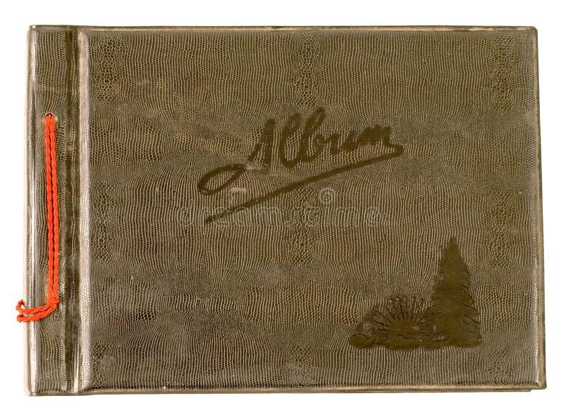 Vecchio album di foto immagine stock