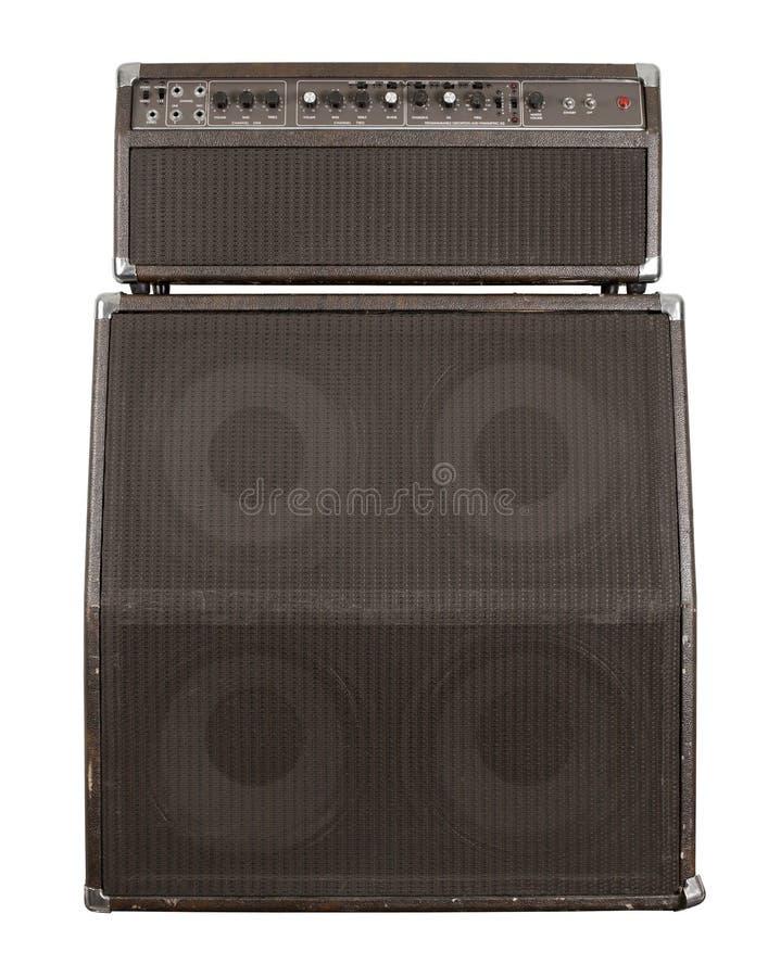 Vecchio amplificatore della chitarra combinato immagini stock