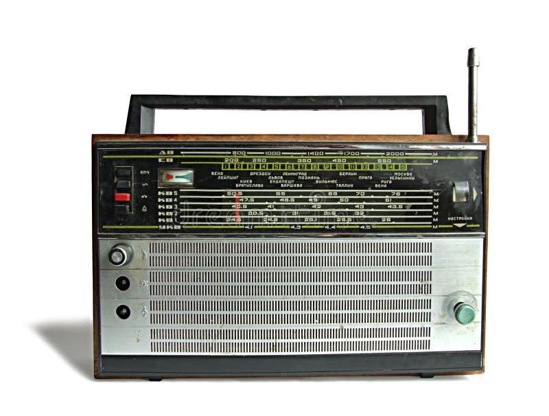Vecchio apparecchio radioricevente sovietico fotografie stock