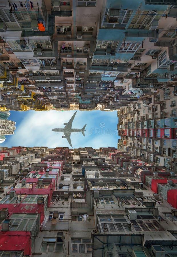Vecchio appartamento in Hong Kong fotografie stock libere da diritti