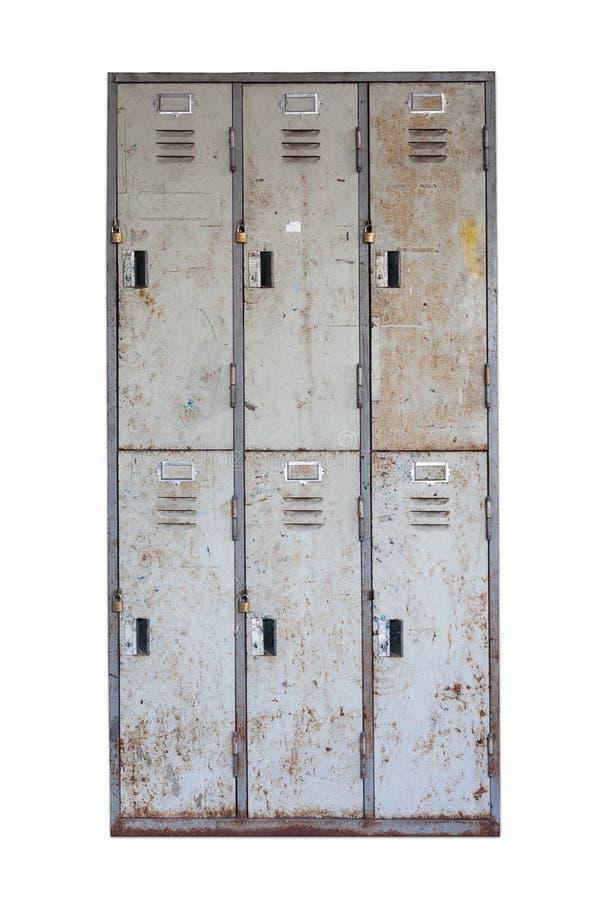 Vecchio armadietto arrugginito fotografia stock libera da diritti